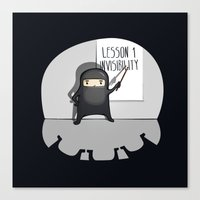 Ninja lessons: Invisibility. Canvas Print