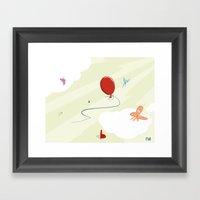 Flight Of Colors Framed Art Print