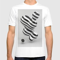 Primitive Stripes Mens Fitted Tee White SMALL