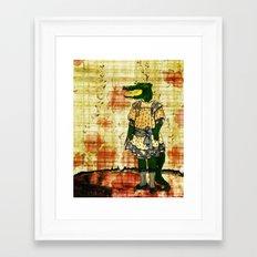 Crocogirl Framed Art Print