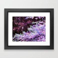 Purple Green Leaves Framed Art Print