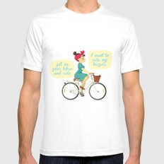 I want to ride my bike Mens Fitted Tee White SMALL
