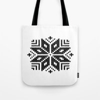 Knit Flake Tote Bag