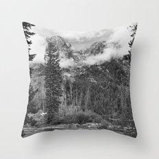 Birch Hallow, Teton Mountains Throw Pillow