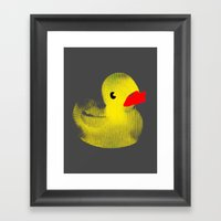 Rubber Duck Framed Art Print