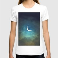 clouds T-shirts featuring Solar Eclipse 1 by Aaron Carberry
