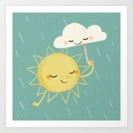 Art Print featuring Little Sun by BabyKarot