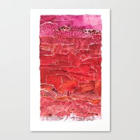 Red Ombre Collage Canvas Print