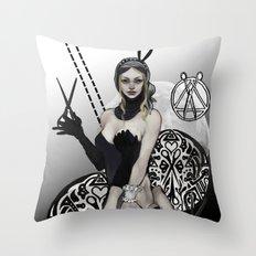 Queen of Scissors Throw Pillow