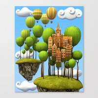 New City in the Sky Canvas Print