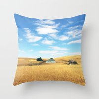 Barn. Throw Pillow
