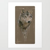 Wolf Head Art Print