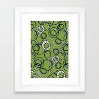 Honolulu hoopla green Framed Art Print