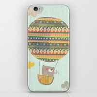 Bear in the air iPhone & iPod Skin