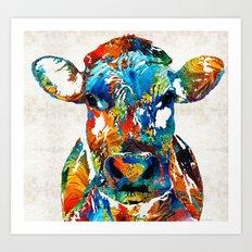 Colorful Cow Art - Mooto… Art Print