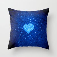 Winter Blue Crystallized… Throw Pillow