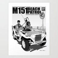 Beach Rescue Honeys - Black Edition Art Print