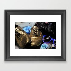 Shoe ad composition 3 Framed Art Print