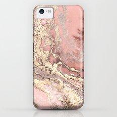 Rosegold marble iPhone 5c Slim Case