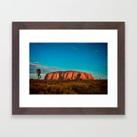 Red Center. Framed Art Print