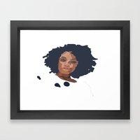 Natural Hair  Framed Art Print