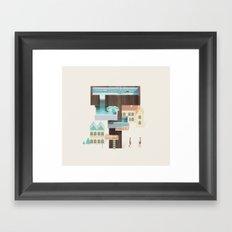 Resort Type - Letter T Framed Art Print