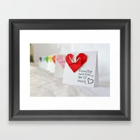 Friendship Comes From Th… Framed Art Print