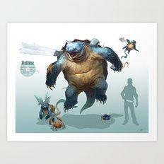 Pokemon-Blastoise Art Print