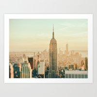 New York City Skyline Dreams Art Print
