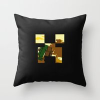 Friends forever (minecraft edition)  Throw Pillow