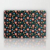 Folk Floral (Black) Laptop & iPad Skin