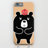 iPhone & iPod Case featuring Apple Bear by Hotdog N' Bun