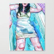Summer Bath Canvas Print