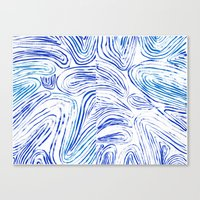 Lines of Waves Canvas Print