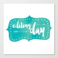 Editing Day Canvas Print
