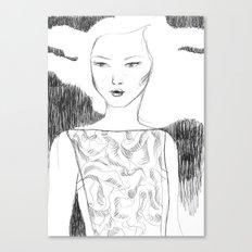 White Pollen Canvas Print