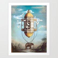 Imaginary Traveler Art Print