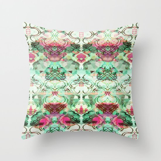 Vintage Style Throw Pillows : Vintage style lace Throw Pillow by Marlidesigns Society6