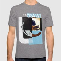 THE CRAWL Mens Fitted Tee Tri-Grey SMALL