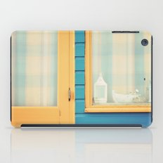 Beach Hut window- orange iPad Case