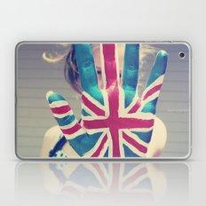 british flag love Laptop & iPad Skin