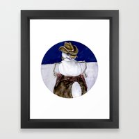 Frosty the Cowboy Framed Art Print
