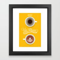 Yes Please Framed Art Print