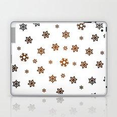 Snowflakes (Bronze and Black on White) Laptop & iPad Skin