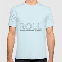 Roll for initiative! Mens Fitted Tee Light Blue SMALL