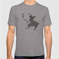 Terry Mens Fitted Tee Athletic Grey SMALL