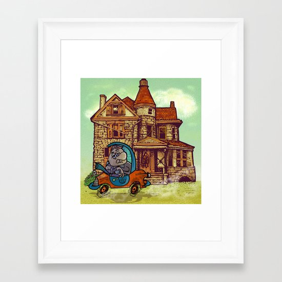 prima casa. Framed Art Print