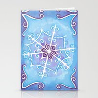 Watercolor Snowflake Stationery Cards