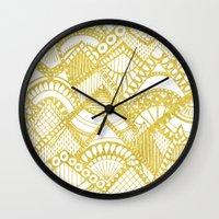 Golden Doodle mountains Wall Clock