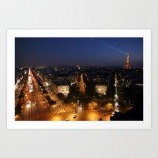 Paris from the Arc Art Print